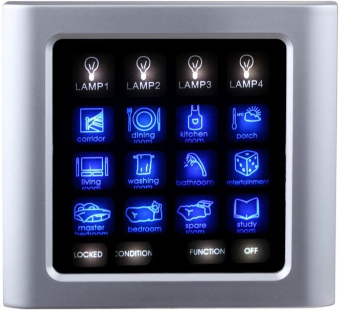 Intelligent Lighting Control Touch Screen Switch For Villa
