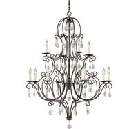 Phube Lighting American Style Retro Crystal Chandeliers Light Villa Bar Salon Chandelier Lustre Light Home Lighting