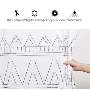 Image 3 - LIANGQI cortina de ducha gruesa con borla étnica, herramientas de baño, partición impermeable, cortina colgante de alta calidad, decoración del hogar