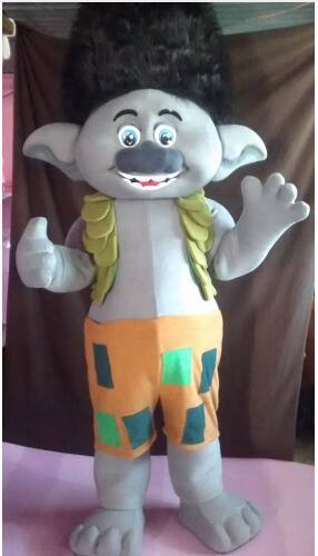 Новинка 2017 года костюм талисмана тролли Маскоты парад качество клоуны дни рождения Тролль нарядное платье партии талисмана доставки Беспл