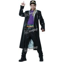 Costume Cosplay Kujo Jotaro pour homme, en cuir, Costume Cosplay Anime JoJos Bizarre Adventure, vêtements de fête dhalloween