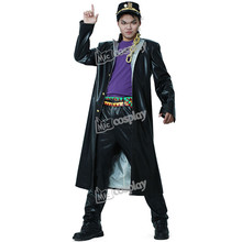Kujo Jotaro Cosplay Leather Cosplay Anime JoJos Bizarre Adventure Costume Halloween Party Men Clothing
