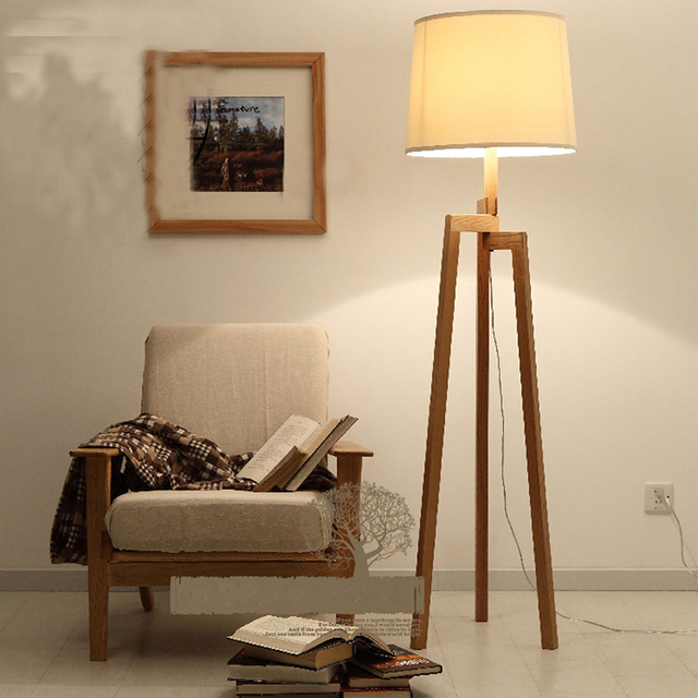 Free shipping new creative north european country style wooden floor free shipping new creative north european country style wooden floor lamp contemporary tripod bedroomsitting aloadofball Images