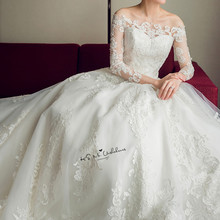 Gelinlik Wedding Dresses Long Sleeve Bride Dress Gowns