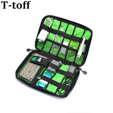 New Electronic Accessories Travel Bag Nylon Mens Travel Organizer For Date Line SD Card USB Cable Digital Device Bag