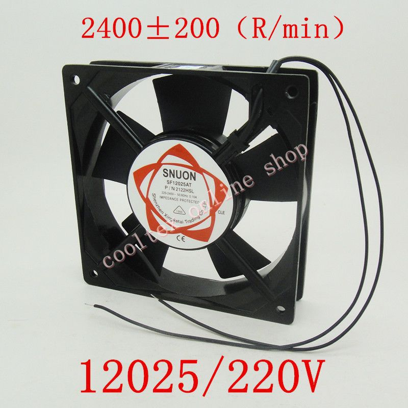 Free Shipping SNUON AC 220V 12025 Cabinet AC Cooling Fan 120x120x25mm  Cooler(China (Mainland