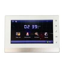 DH логотип мульти-Язык VTH1550CH 7-дюймовый сенсорный экран крытый монитор, международных verision, умный дверной звонок, видео-домофон, проводной дверной звонок