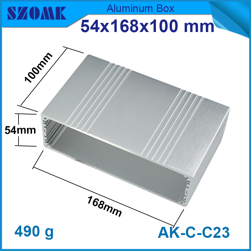 1 piece silver color high quality aluminum electronics junction box 54*168*100mm extruded aluminum enclosures electronics блок питания stm electronics 500w 50shb silver