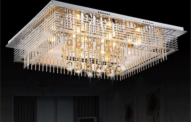 Slaapkamer Lamp Led : Nieuwe led kristallen kroonluchter rechthoekige woonkamer