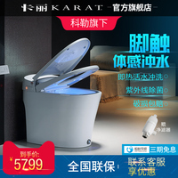 Electric Intelligent Toilet Integrative Full automatic Foot touch Flushing Household Water Tank Toilet