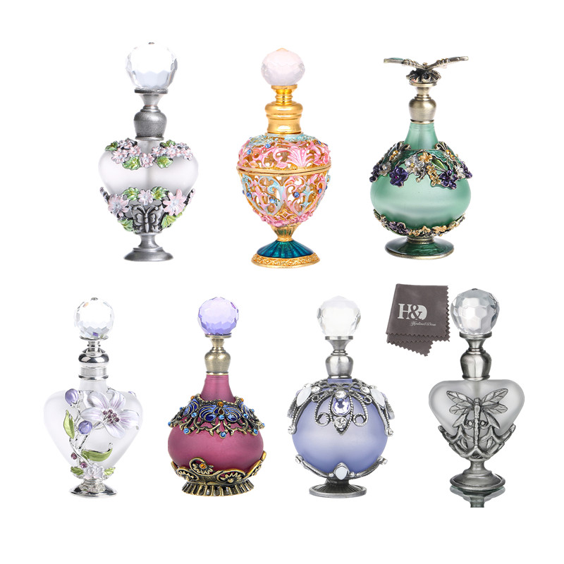 H&D Restoring Ancient Ways Hollow-out Rattan Flower Perfume Bottles Empty Refillable Container Home Wedding Decor Gifts For Girl