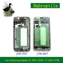 Replacement For Samsung Galaxy J5 2017 J530 / J7 2017 J730 Front Frame Front Housing LCD Screen Plate Bezel Repair Parts