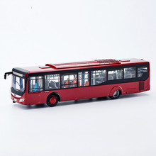 Collectible Alloy Toy Model Gift 1:42 Original Yutong ZK6128 Auto City Transit Bus Vehicle DieCast for Decoration