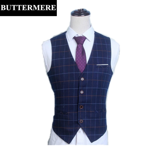 Plus Size Vest Mens Plaid Suit Vest Spring Autumn Thin Black Waistcoat Sleeveless Suit Blazer Xl-6xl Big Size Men Clothing