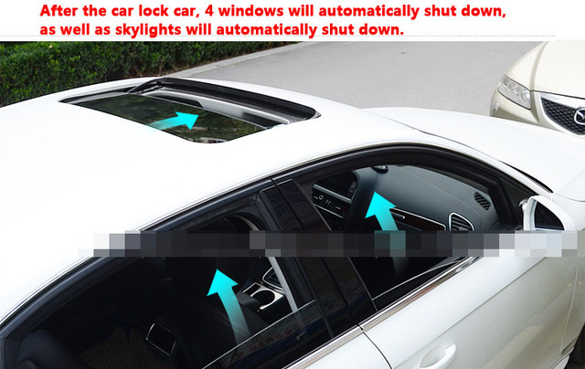 A key control Car locked Lock the car automatically closes the windows and sunroof For A4L A6L A7 A8 Q5 Q3 Easy Installation