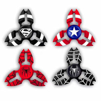 Beautiful Crab Avengers Heroes Kirsite Fidget Spinner Finger EDC Hand Spinner For Autism and ADHD Relief Focus Wheel Toys Gift