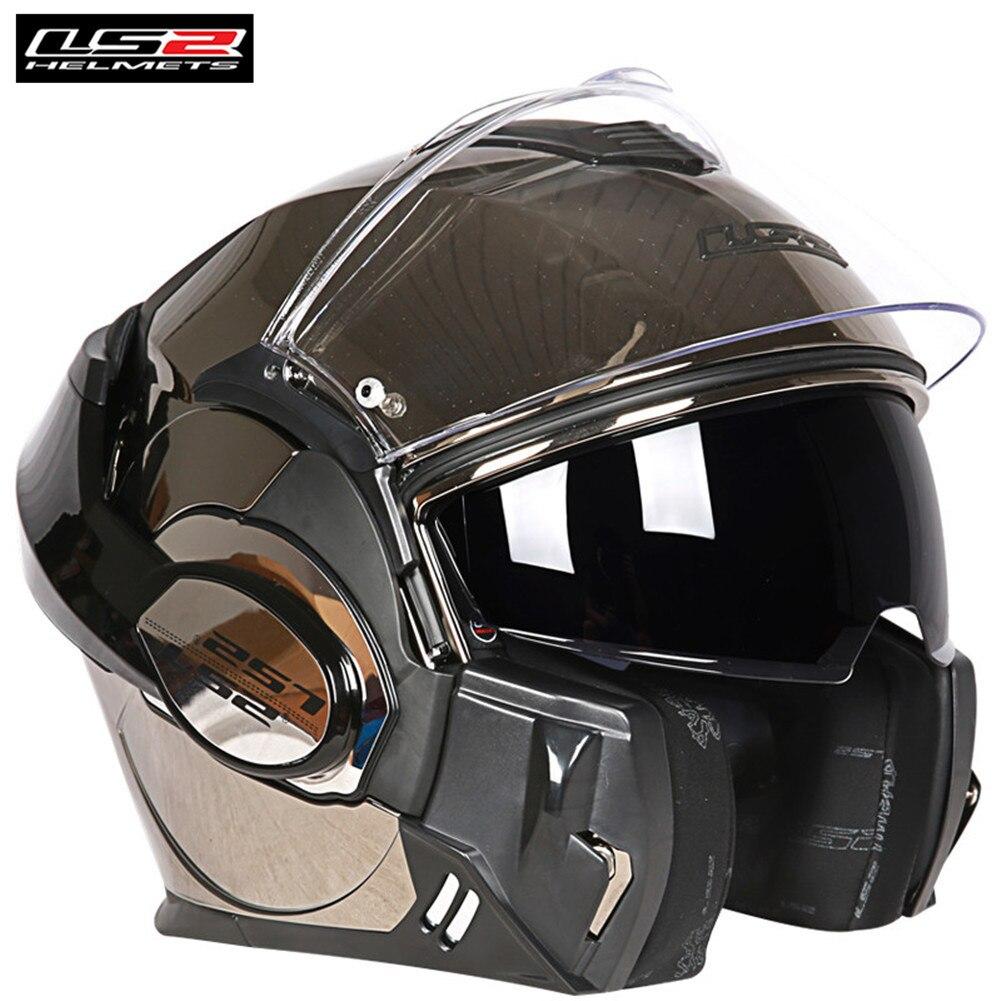 LS2 FF399 Valiant Moto Casque Convertible relevable Modulaire de Course Casque Casco Moto Capacetes de Motociclista Cruiser