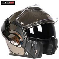 Otomobiller ve Motosikletler'ten Kasklar'de LS2 FF399 Valiant motosiklet kask cabrio Flip up modüler yarış Casque kasko Moto Capacetes de Motociclista Cruiser