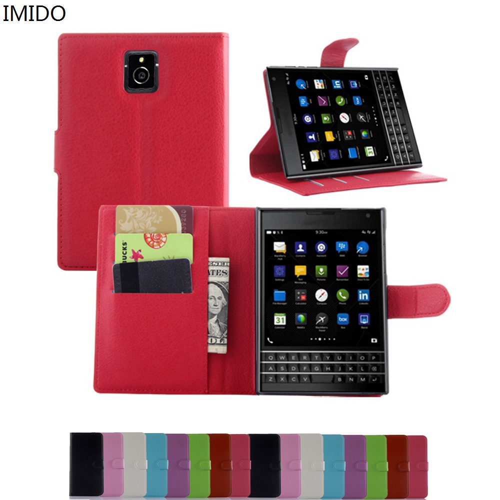 best website e678c c75aa Wallet Stand Flip Cover Blackberry Passport Q30 PU Leather Magnetic With  Card Blackberry Q30