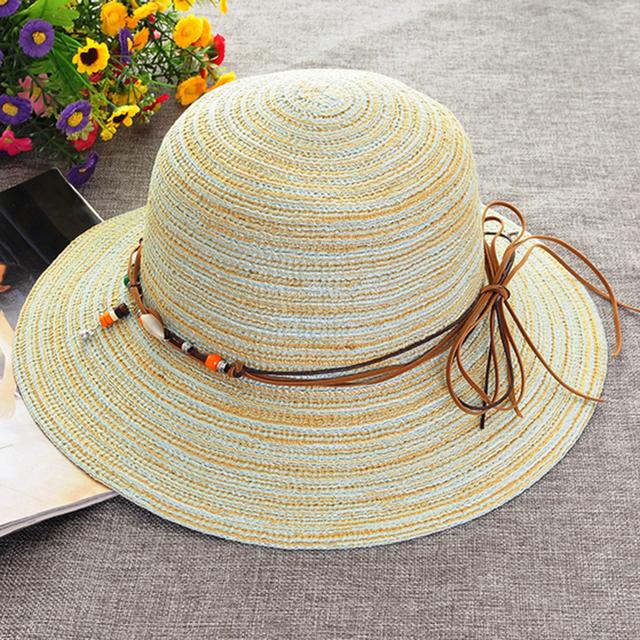 LOVIW vogueable Beach Brim Sun Del Verano Del Sombrero de Las Mujeres de Algodón de lino Elegante Tapa Ocasional