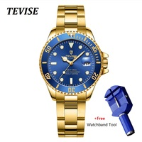 2019 Women Watches TEVISE Automatic Self Wind Ladies Watch Woman Montre Femme Mechanical Wristwatches With Watchband Fix Tool
