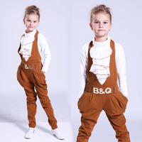 Kids Clothing Sets For Girls Clothes Suits 2017 Spring Children Casual Long Sleeve T Shirt Overalls