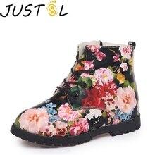 Летние Детские Ботинки martin; Новинка года; модные Нескользящие ботинки для детей; бархатные зимние ботинки с цветочным принтом для мальчиков и девочек; размеры 21-36