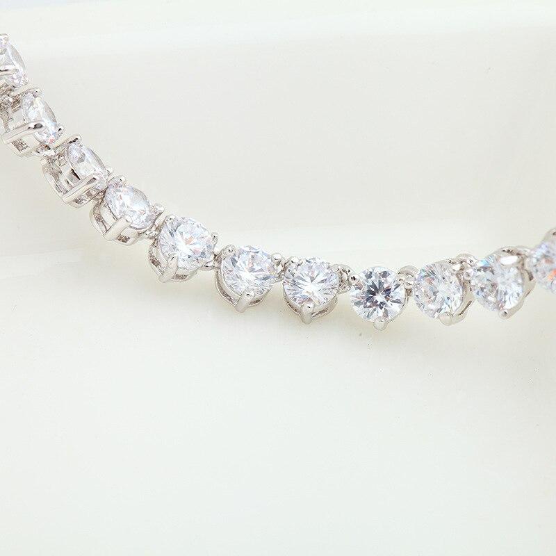 Ensemble de bijoux de luxe classique AAAAA CZ pour mariage mariée colliers de mariée boucles d'oreilles pour femmes bijoux cadeau d'anniversaire LX001S - 2