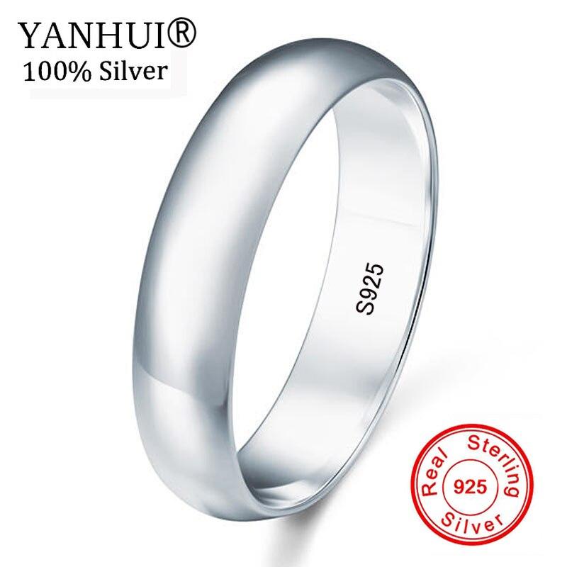 a0d0b68b3148 100% Natural de plata esterlina 925 DE BODA diamante anillo anillos boda  banda bien amante de la joyería de regalo de compromiso anillos para los  hombres y ...
