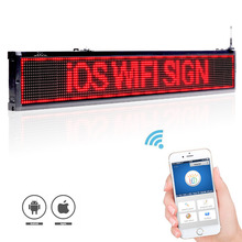 40-inch 101cm ios And  Android Wifi wireless remote Programmable Advertising LED Display Board,  Bright Red led sign for Busines dicom ditech ub40wbs 40 inch 101cm white black silver