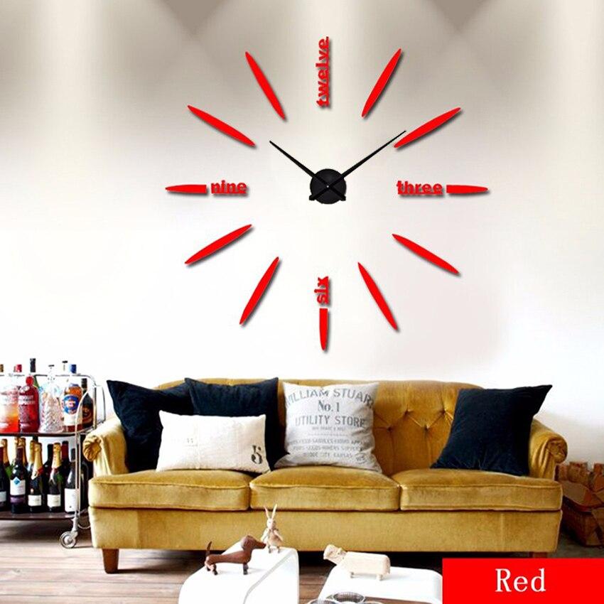 Böyük Divar Saatı 2020 Divar Saatı Akril + EVR + Metal Güzgü - Ev dekoru - Fotoqrafiya 5
