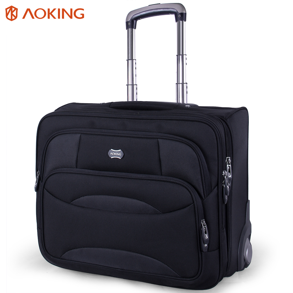 Aoking Wheel Luggage Metal Trolley Bag Men Travel Hand Trolley Men Bag Large Capacity Travel Luggage