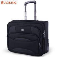 Aoking Wheel Luggage Metal Trolley Bag Men Travel Hand Trolley Men Bag Large Capacity Travel Luggage Bags Suitcase Trip Luggage