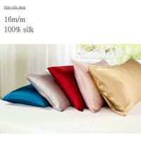 16m M Envelope Style Double Face Silk Pillowcase Satin Pillow Cover 100 Pure Mulberry Silk Pillow