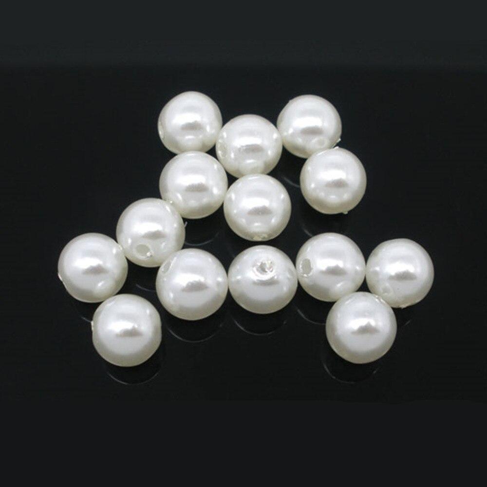 DoreenBeads 300 шт. искусственный жемчуг Круглые бусины 8 мм диаметр (B05240), иу