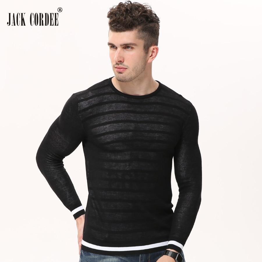 Jack cordee в полоску модные свитер с круглым вырезом Пуловеры для женщин трикотаж Для мужчин осень двухслойная звезда печати Slim Fit Вязание Свите... ...