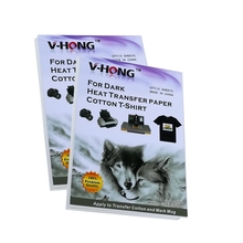 inkjet printer Iron heat  transfer paper A4 size cotton Black Textiles Clothes V-HONG high quality transfer paper цена и фото