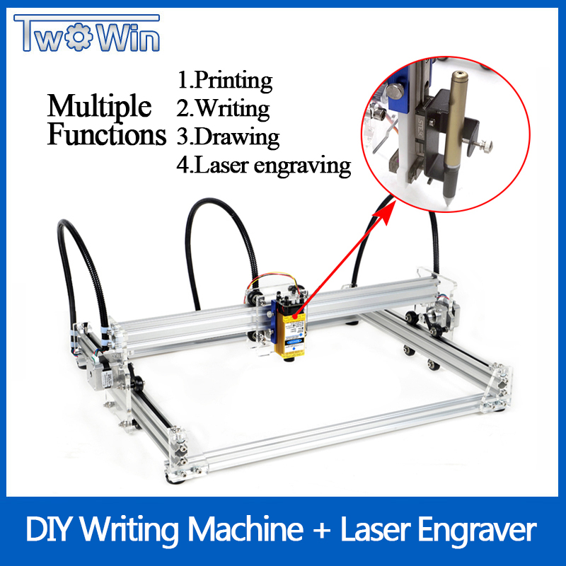 15W Fixed Focus A3 Pro DIY Mini CNC Engraving Machine Printing Drawing Machine Mapper GRBL Plotter Laser Engraver Writing Robot