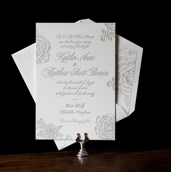 Letterpress Wedding Invitations.Us 300 0 Ca0889 Silver Grey Letterpress Wedding Invitations In Cards Invitations From Home Garden On Aliexpress Com Alibaba Group