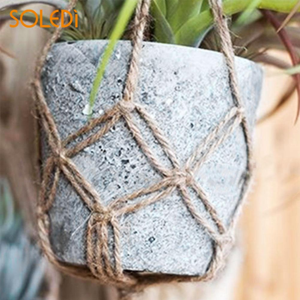 770mm/990mm Hemp Rope Macrame Plant Pot Hanging Holder Basket Hanger Decor AU