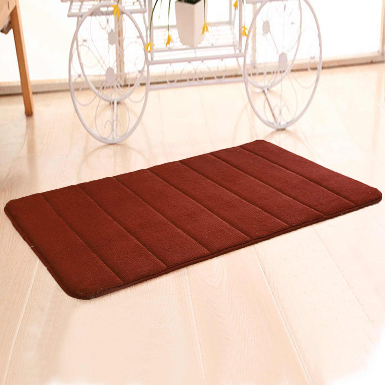 NC Bathroon аксессуар 40x60 см Memory Foam Коралловая флисовая ткань Нескользящие напольные коврики для ванной безопасности ванная Туалет пол коврик