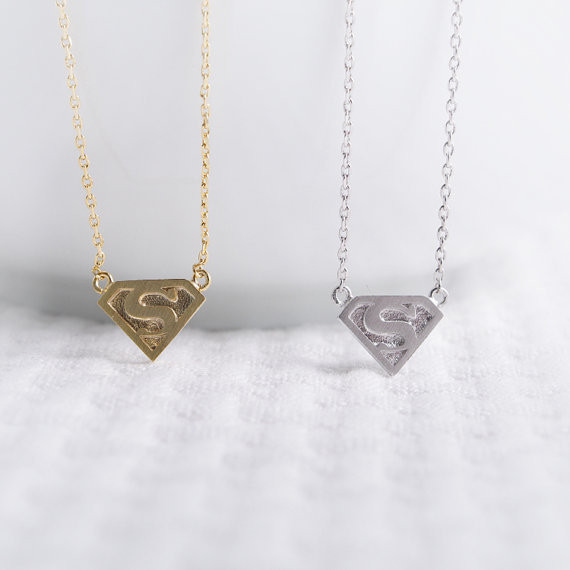 2014-Fashion-18k-Gold-Silver-Super-S-Logo-Necklace-Free-Shipping (1)