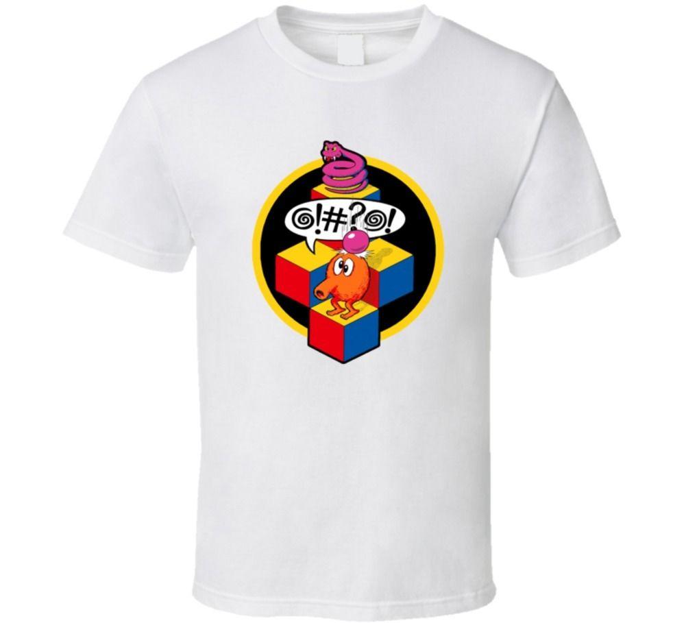 Q-bert, T-Shirt, Arcade, Video, Game, Gaming, Classic, Retro, 80s, fun