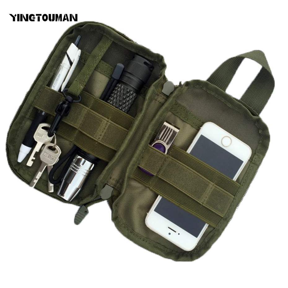 YINGTOUMAN Hot Sell Promotions Outdoor Tactical Waist Solid Sports Hunting Pack Belt Bag EDC Camping Hiking Phone Pouch Wallet