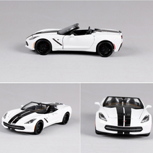 1:24 diecast car model 2014 corvette stingray modified alloy boys gift toys for kids and children collections