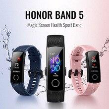 Oryginalny Huawei Honor Band 5 inteligentny nadgarstek tlen krwi magiczny ekran zdrowie Sport bransoletka pływać Monitor tętno sen Nap