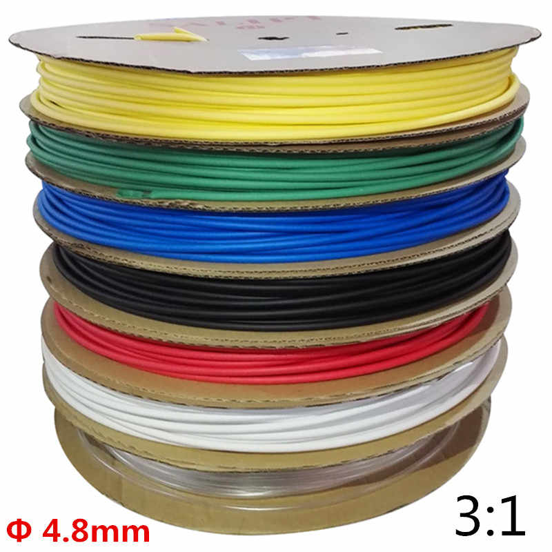 Cable-Core Heat Shrink Tubing 2:1 Ratio CLEAR 3.2mm 5m 5 metres