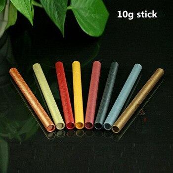 Tubo de incienso de papel de 10 Uds. Caja pequeña de almacenamiento de incienso grueso colorido para palo de 10g