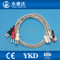 ECG monitor Cable,3lead ECG Leadwires with AHA,Clip for SPACELABS