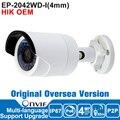 Хик IP Камера 4MP OEM DS-2CD2042WD-I Ip-камера Poe, Ip-камера Безопасности Открытый P2P Камеры Видеонаблюдения Английская Версия